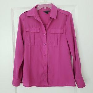 Magenta Button Down shirt